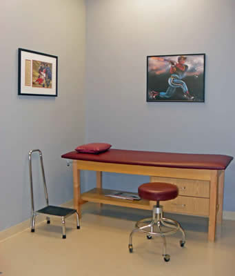 exam room in orthopedic practice