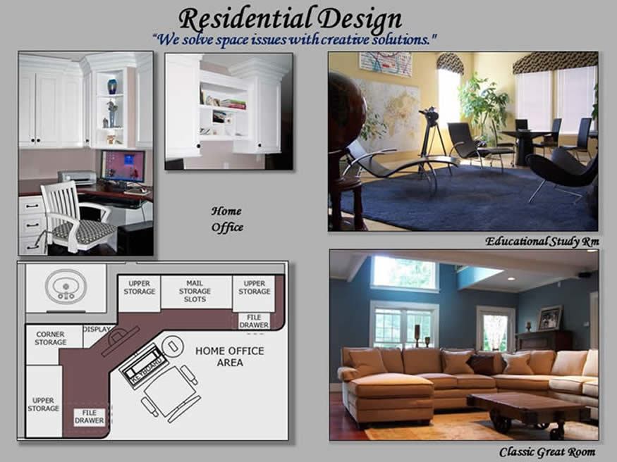 residential interior design collage