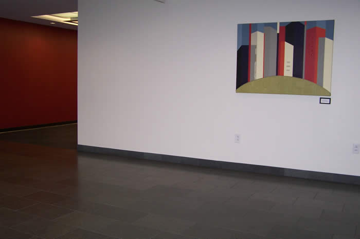 artwork hanging in employee lobby