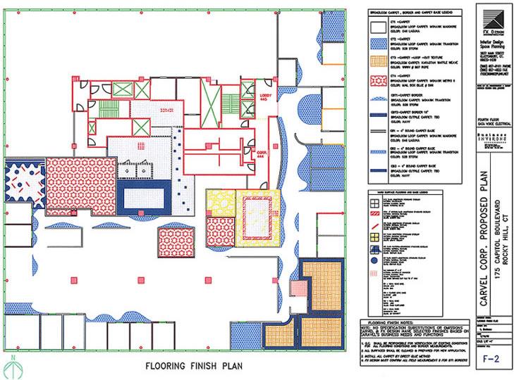 Carvel Flooring Finish Plan