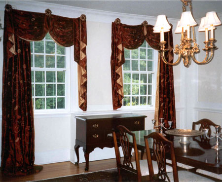 Elegant silk drapes.