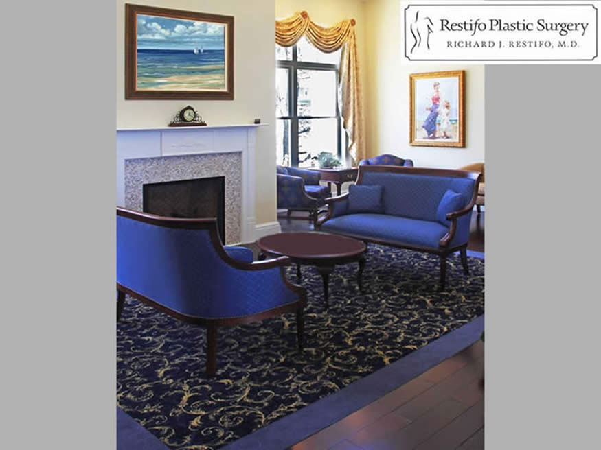 plastic surgeon waiting area interior design