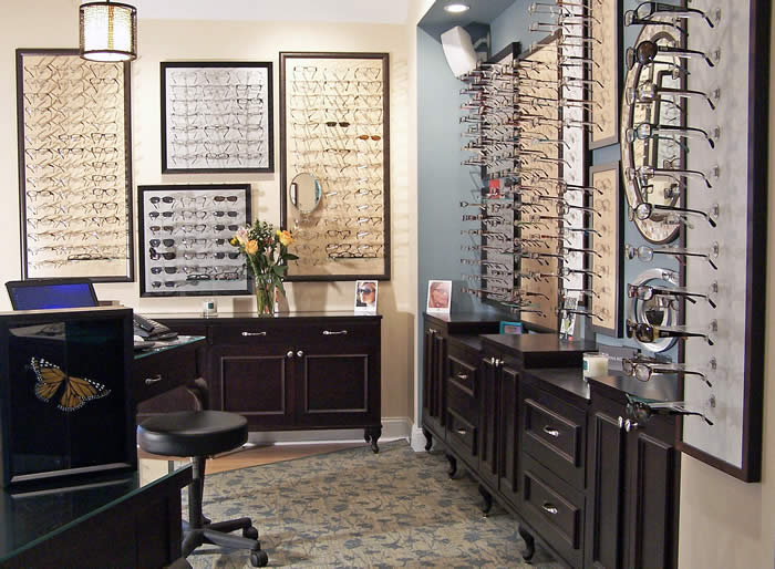 Wood cabinetry & optical display