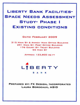 Liberty Bank Space Needs Assessment Booklet Cover