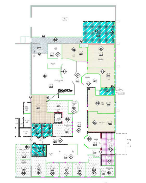 Finish Floor Plan Part - 50: Finish Plan Indicating All Floor U0026 Wall Finishes Such As Carpet, Tile, VCT