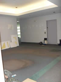 BEFORE photo of waiting area